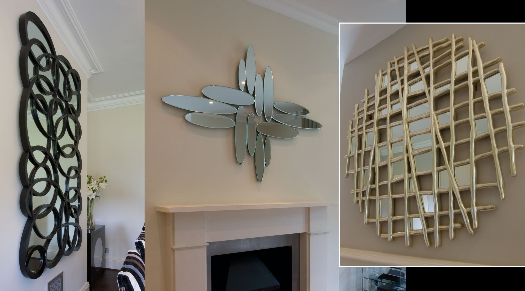Variety of contemporary wall mirrors